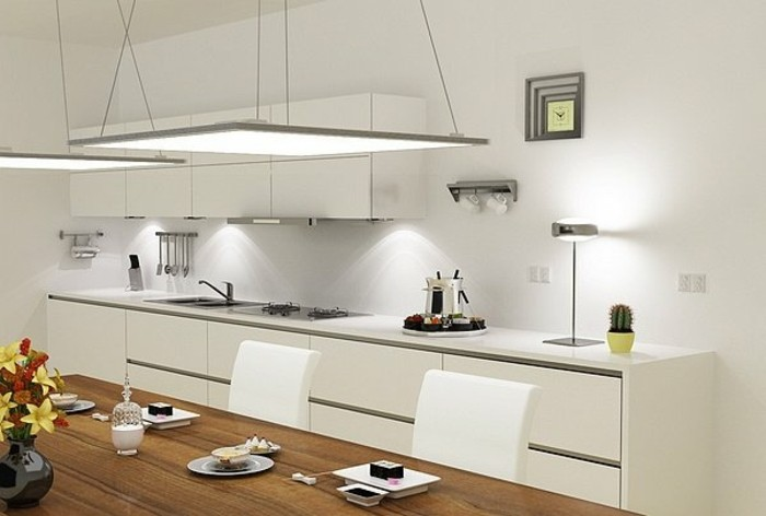 plafonnier de cuisine luminaire plafonnier led nur 40w suspension plafonnier cuisine lampe. Black Bedroom Furniture Sets. Home Design Ideas