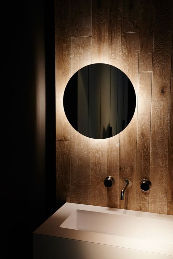 miroir eclairant salle de bain maison design. Black Bedroom Furniture Sets. Home Design Ideas