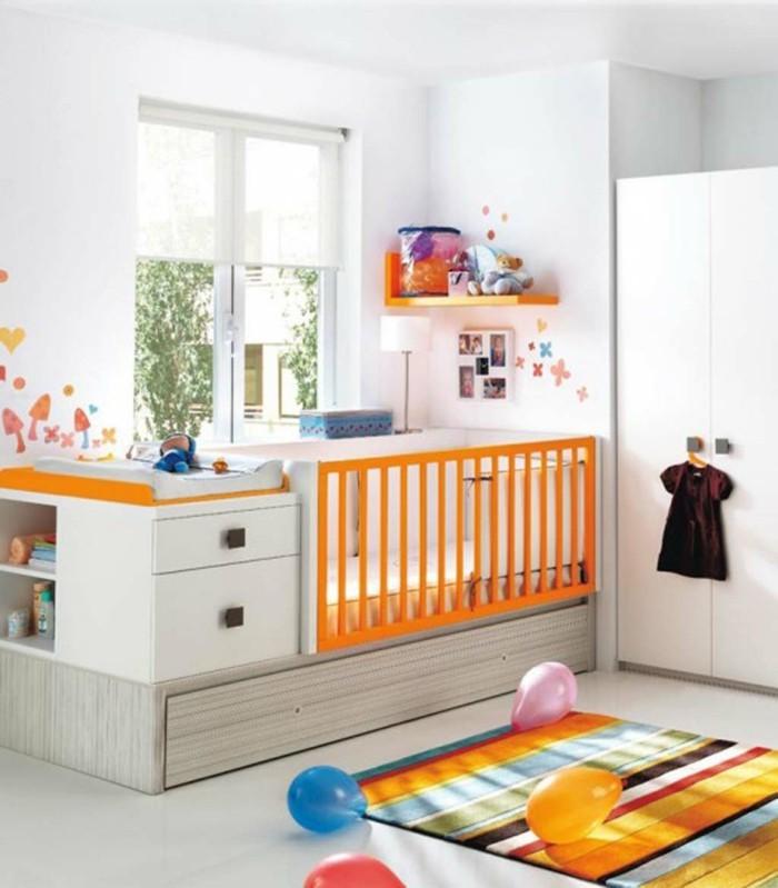 magnifique-chambre-bebe-decoration-tapis-coloré-en-orange-idees