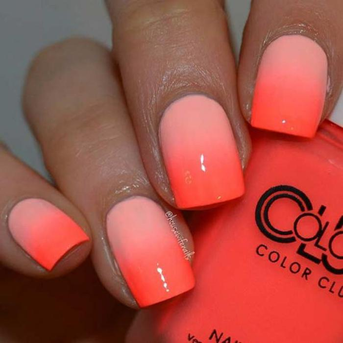 manucure-ombré-nail-art-orange-déco-ongles