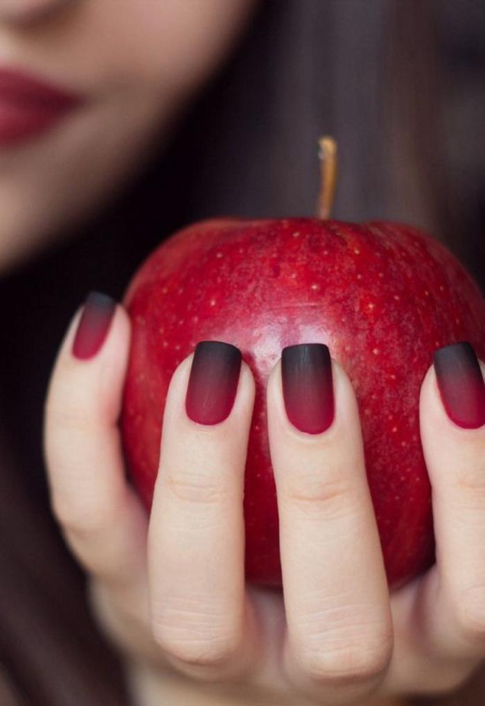 manucure-ombré-ongles-rouges-et-noirs-ombré