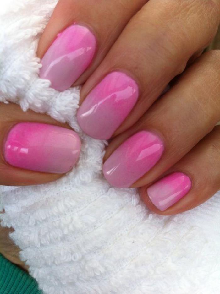 manucure-ombré-technique-nail-art-ombré-en-rose