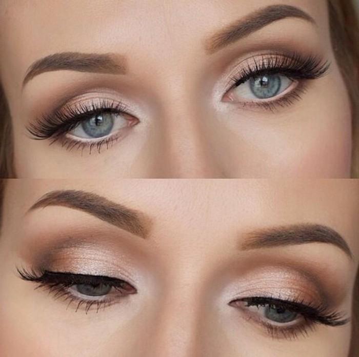 maquillage-yeux-de-chat-yeux-bleus-femme-maquillage-année-60-diy