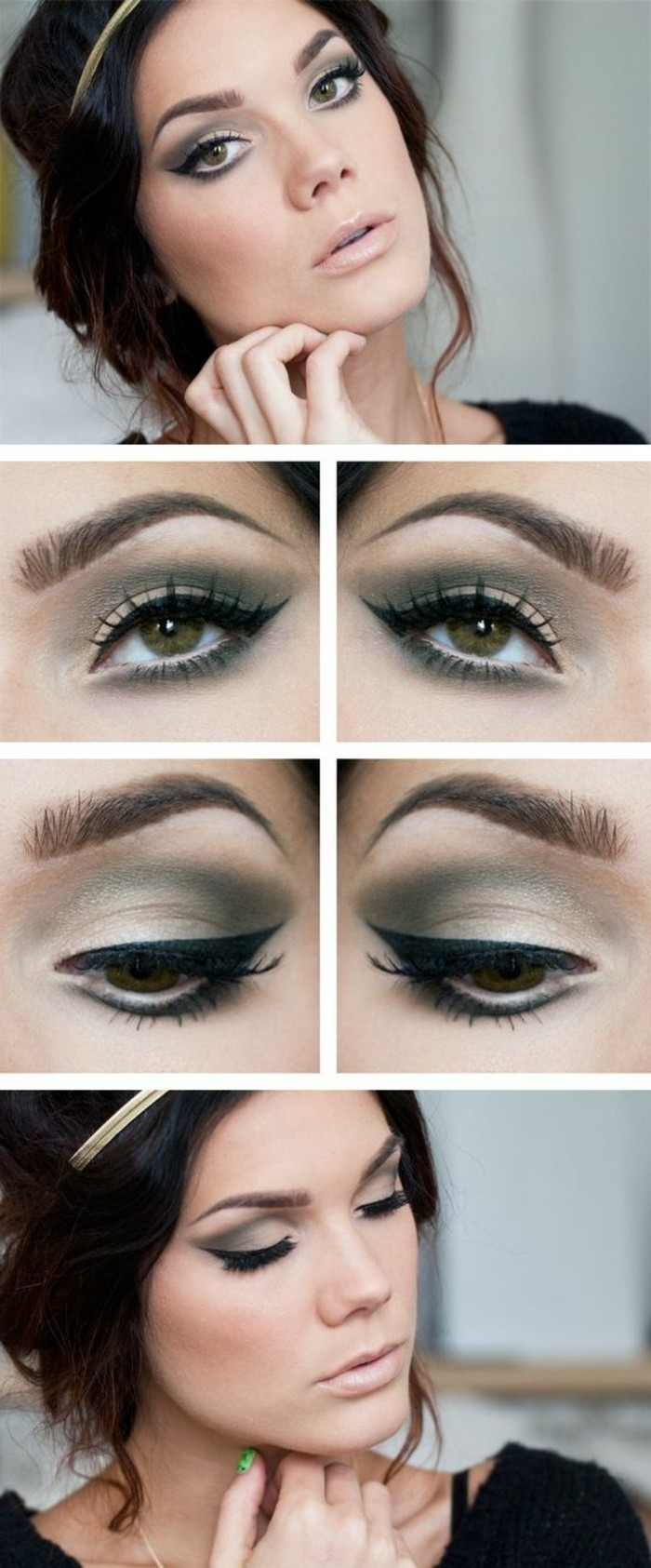 maquillage-yeux-marron-vert-idee-tuto-maquillage-coiffure-cheveux-marrons
