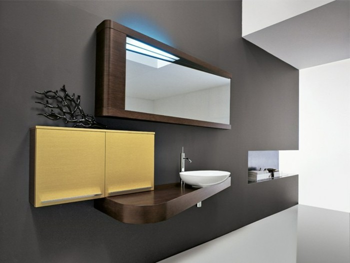 miroir-Edoné-by-Agorà-Group-miroir-éclairant-salle-de-bain-meubles-en-jaune-pale-et-marron-foncé