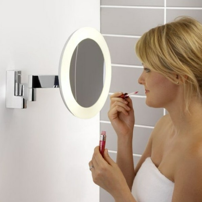 miroir avec eclairage miroir lumineux pour maquillage design - Petit Miroir Salle De Bain