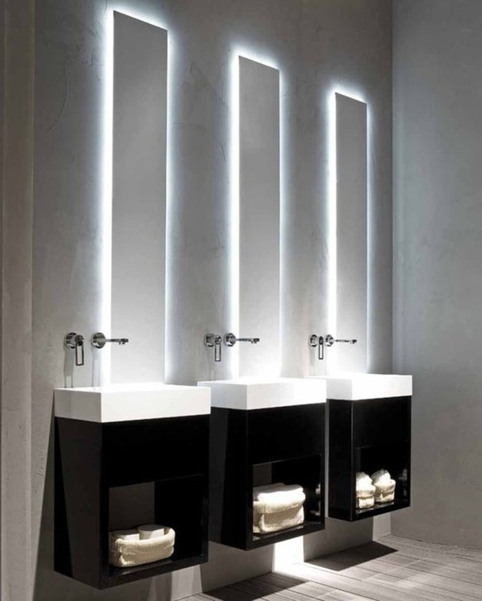 bandeau lumineux salle de bain affordable miroir salle de bain lumineux leroy merlin with. Black Bedroom Furniture Sets. Home Design Ideas