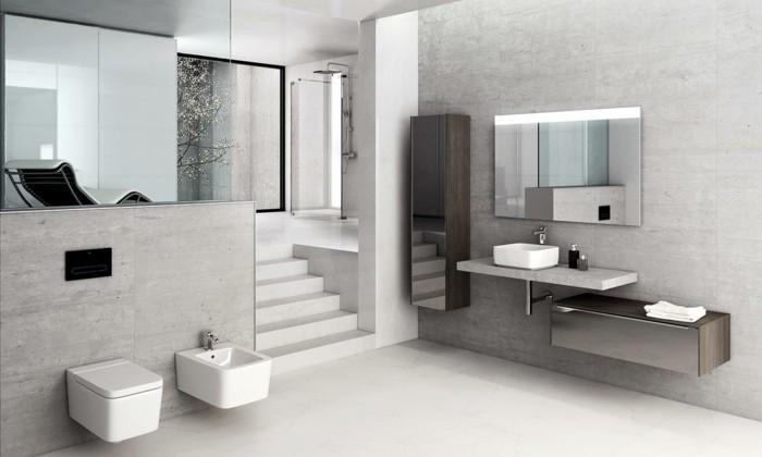 miroir-roca-salle-de-bain-bandeau-lumineux-miroir-roca-salle-de-bain-grise-pale
