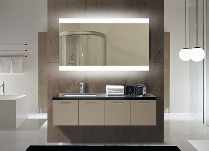 miroir salle de bain lumineux avec prise de courant best le carrelage imitation bois en photos. Black Bedroom Furniture Sets. Home Design Ideas