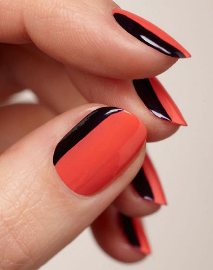 modèle-ongles-déco-nail-stylée-en-rouge-et-noir