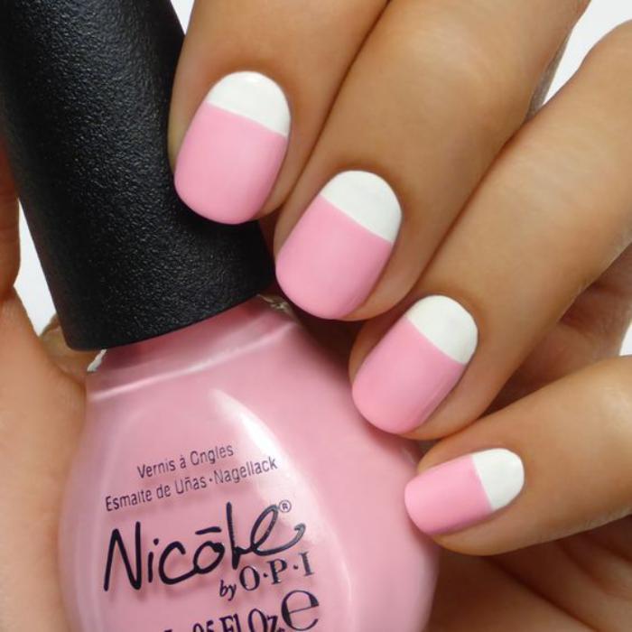 modèle-ongles-gel-nail-art-pour-l'office-rose-et-blanc