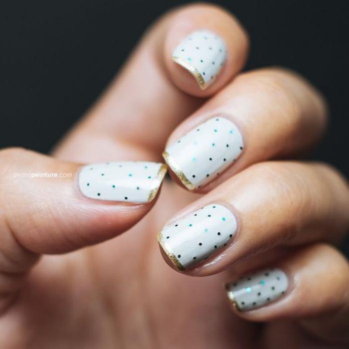 modèle-ongles-pointillé-déco-ongles-classique-super-belle