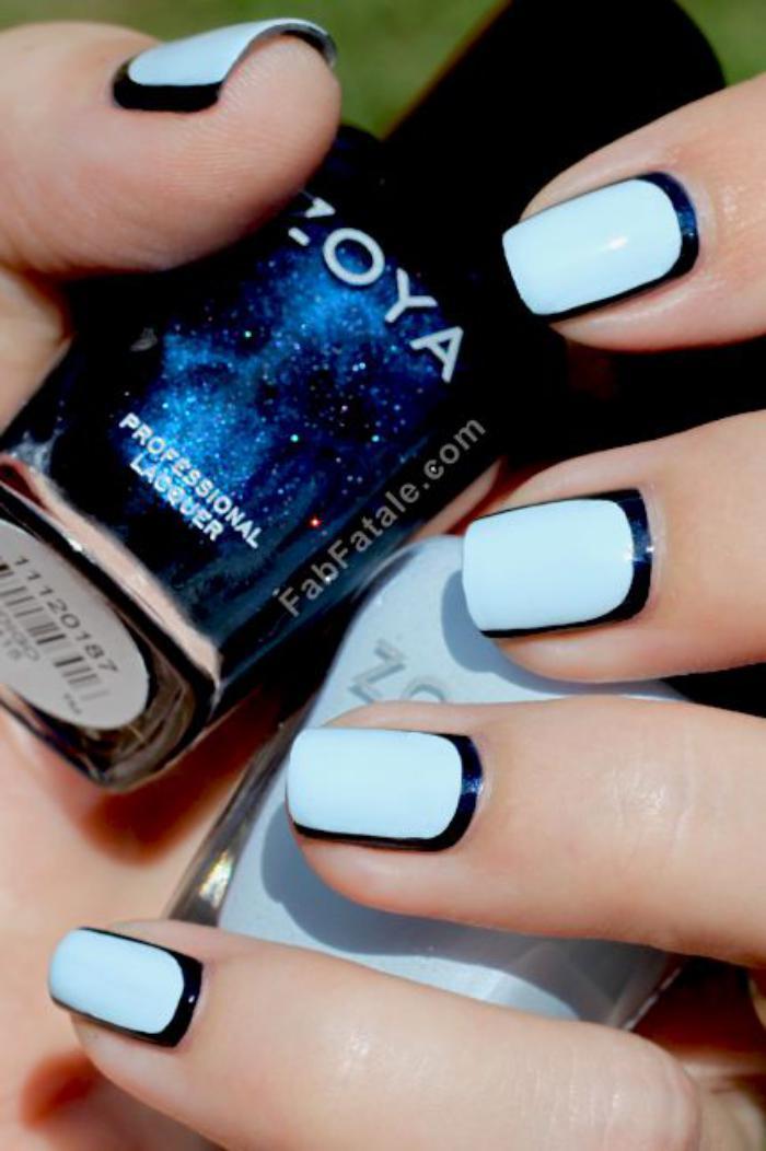 modèle-ongles-vernis-bleu-clair-et-contour-noir