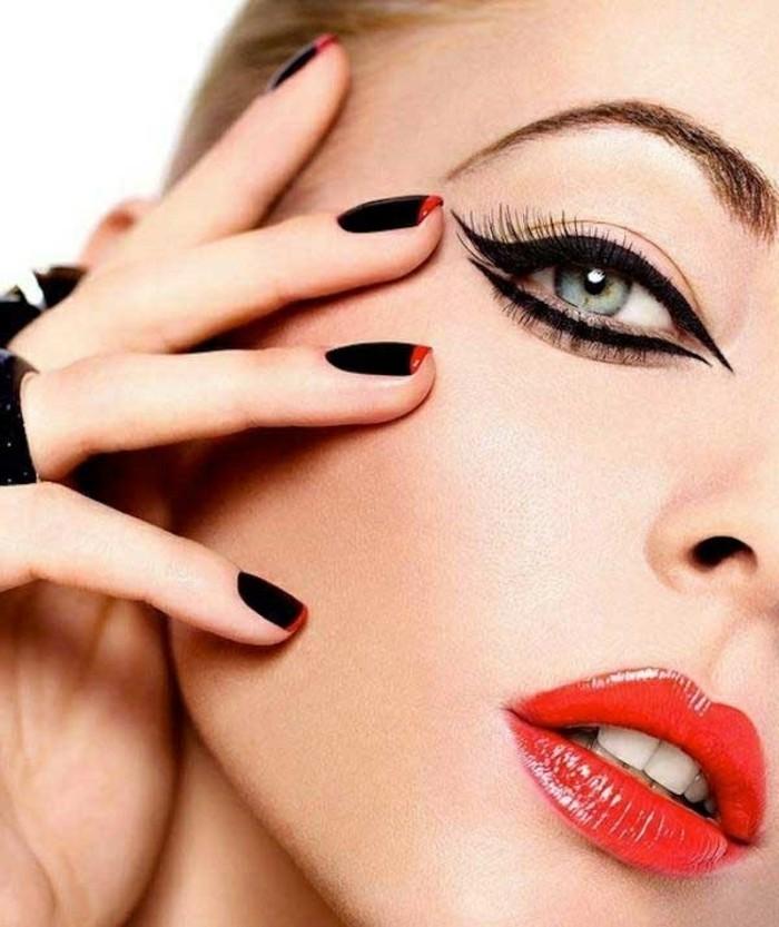 modele-de-maquillage-pour-soirée-tuto-maquillage-noel-chouette