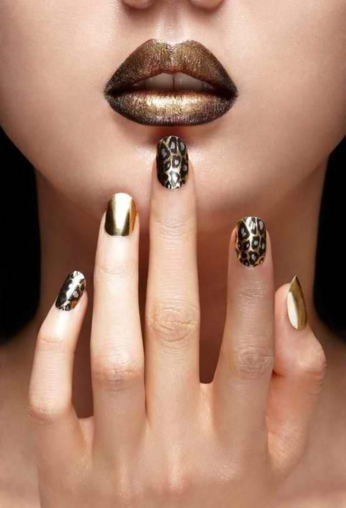 nail-art-facile-aux-prints-léopard