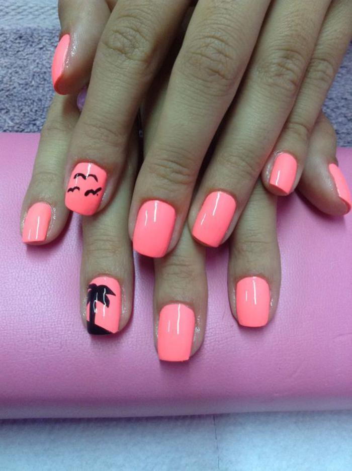 nail-art-facile-nail-art-simple-en-rose-et-noir