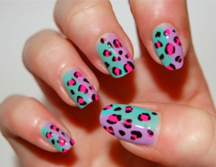 nail-art-facile-se-faire-des-imprimés-léopards