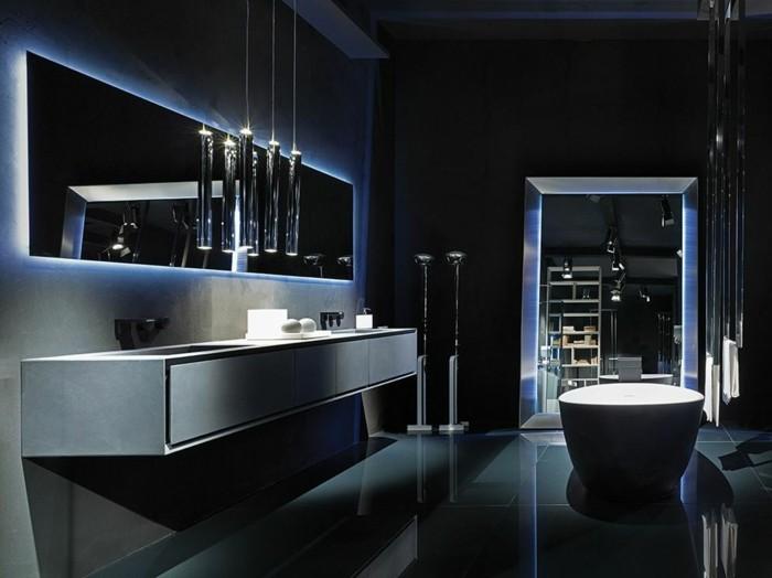 rifra-salle-de-bain-de-luxe-miroir-rectangulaire-éclairant-salle-de-bain-grise