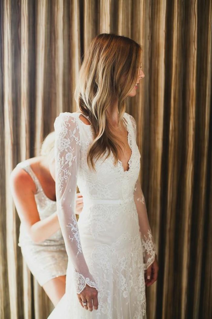 Robe de mariee civil hiver