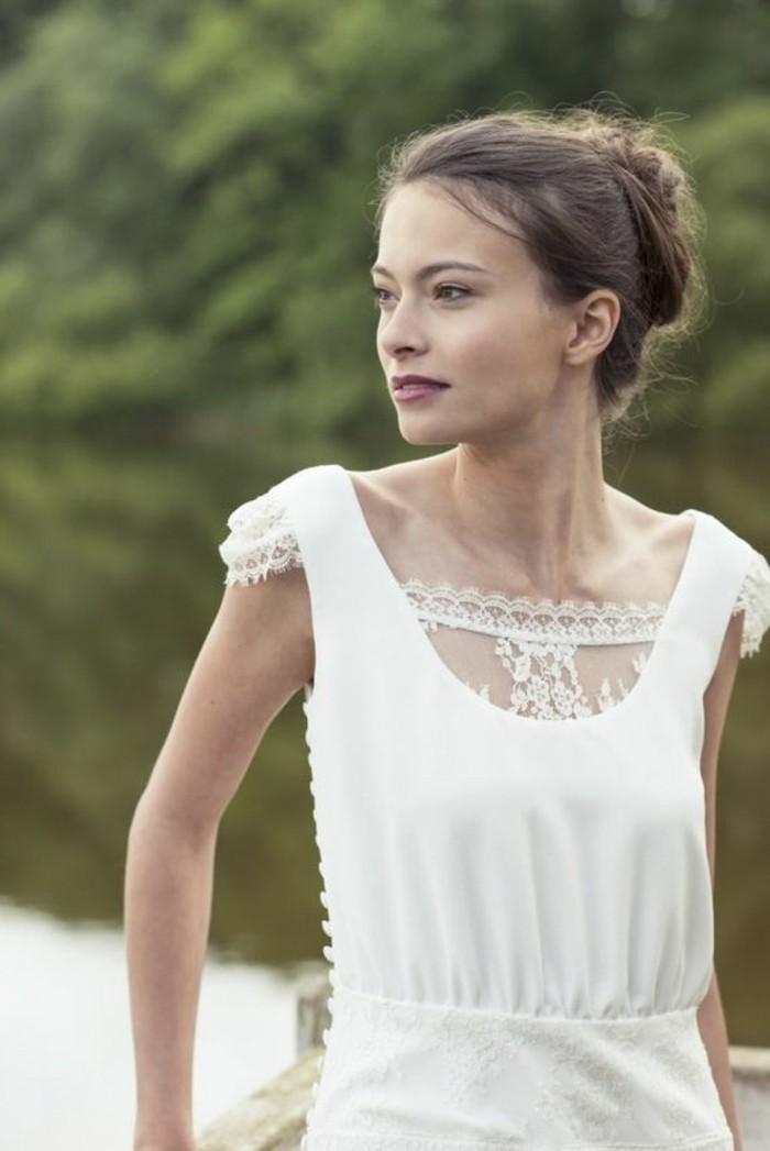 robe-de-mariée-civile-blanche-idee-vetement-ceremonie-mariage-robe ...