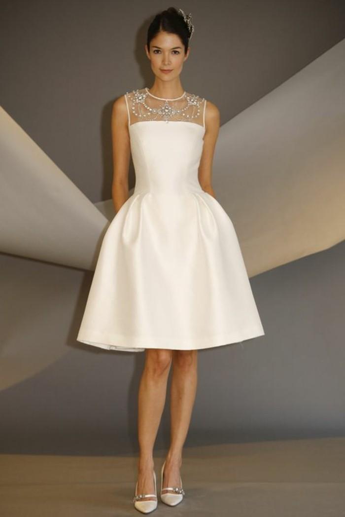robe-de-mariée-civile-blanche-robe-courte-de-mariée-robe-mariage ...