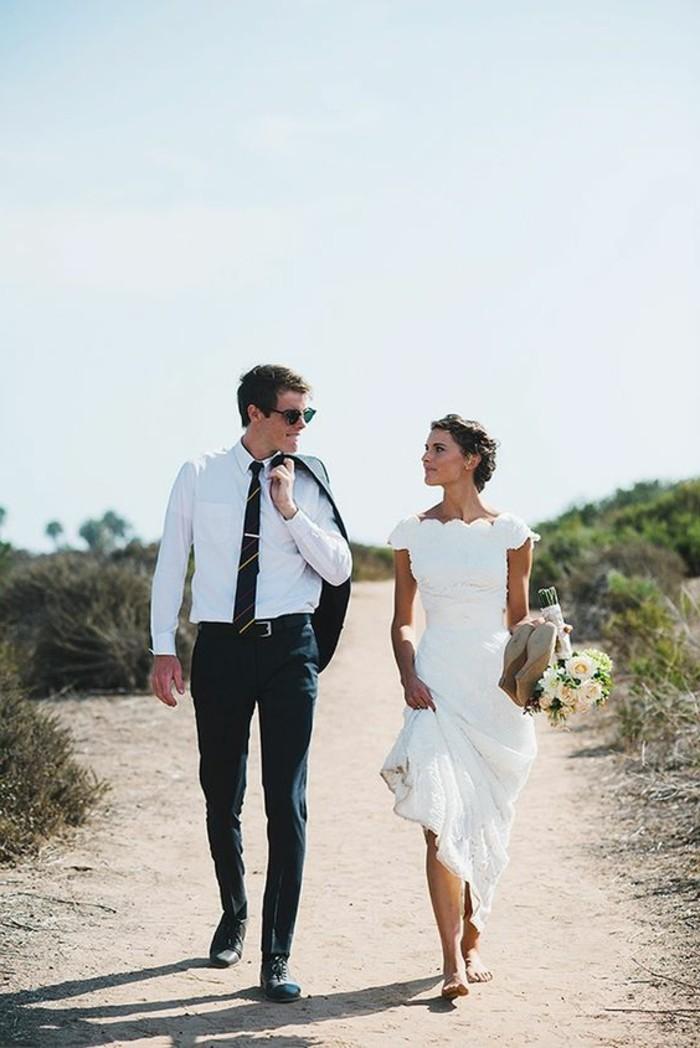 robe-de-mariee-simple-mariage-plage-sables-robe-longue-mariage-civil