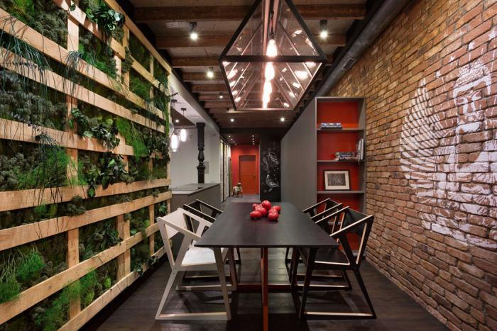 L 39 am nagement d 39 une salle manger style industriel en 48 for Salle de bain style loft