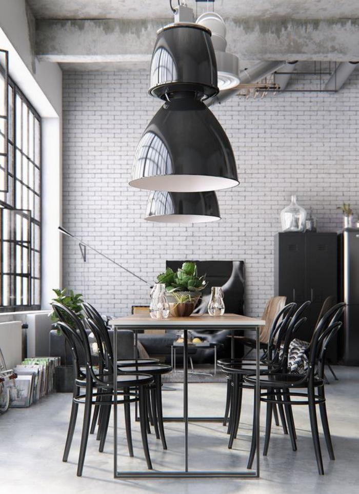 salle-à-manger-style-industriel-meubles-style-industriel-chaises-bistrot