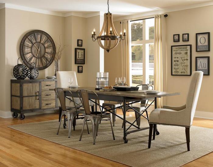 salle-à-manger-style-industriel-mobilier-style-industriel-buffet-sur-roues