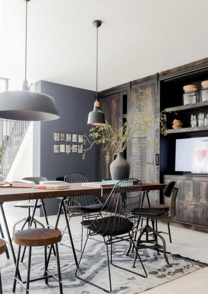 salle-à-manger-style-industriel-mobilier-style-industriel-moderne