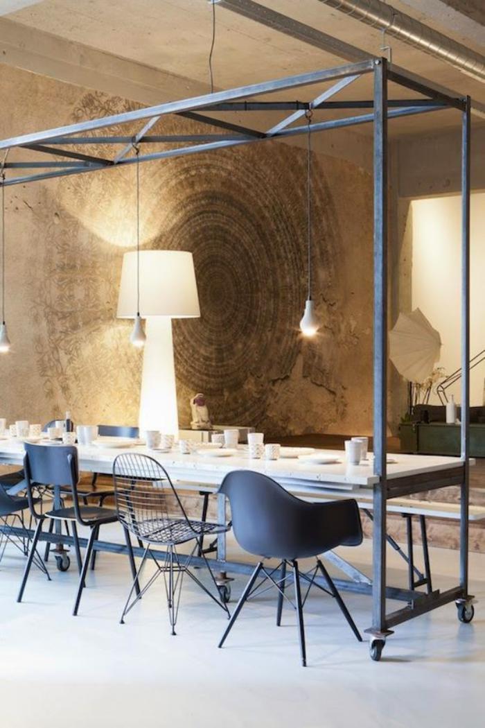 salle-à-manger-style-industriel-mobilier-style-industriel