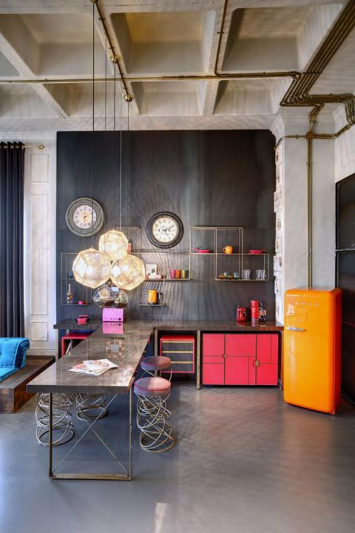 salle-à-manger-style-industriel-salle-à-manger-espace-ouvert-contemporaine