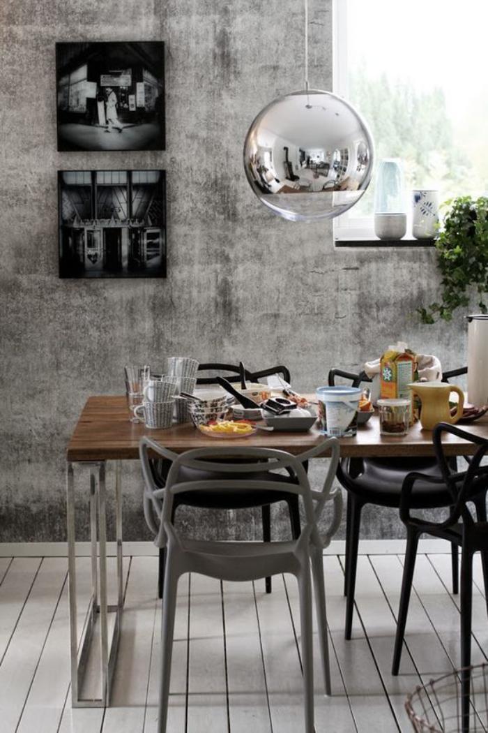 l 39 am nagement d 39 une salle manger style industriel en 48 photos. Black Bedroom Furniture Sets. Home Design Ideas
