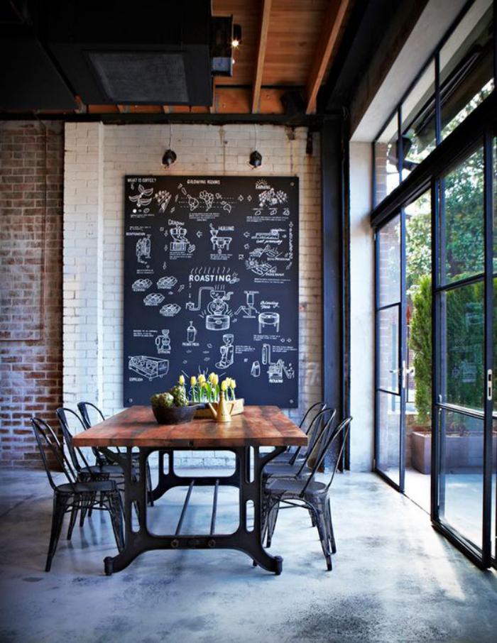 salle-à-manger-style-industriel-table-de-déjeuner-style-industriel