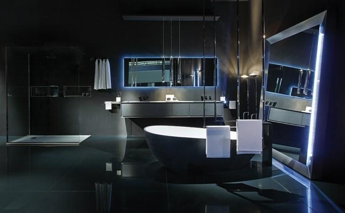 O trouver le meilleur miroir de salle de bain avec clairage for Salle de bain design luxe noir et blanc