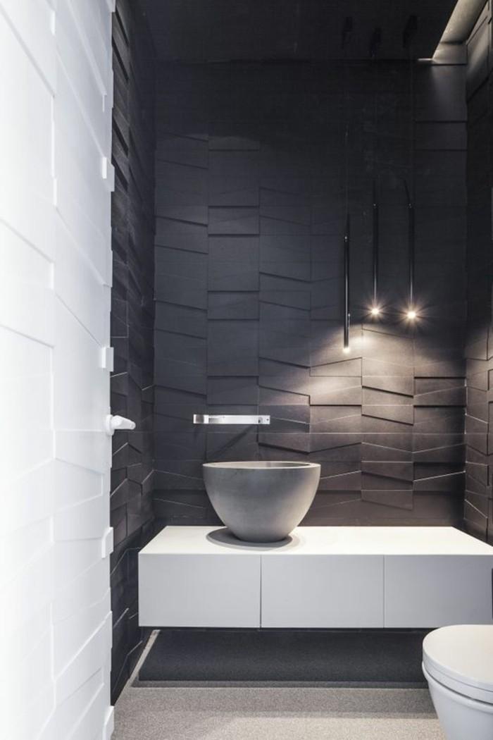 salle-de-bain-en-blanc-et-gris-foncé-lustre-suspendu-salle-de-bain-luminaire-design
