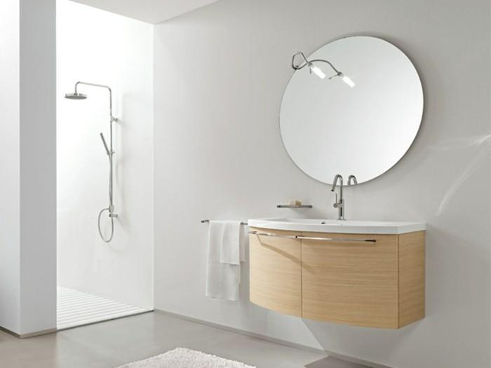 salle-de-bain-miroir-rond-Edoné-by-Agorà-Group-meuble-en-bois-clair-miroir-rond