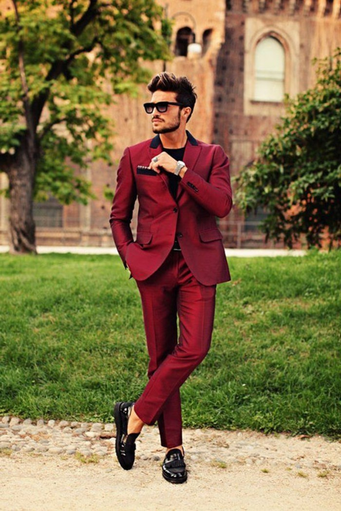 smoking-mariage-tenue-chic-homme-tenue-chique-oser-le-rouge-idee