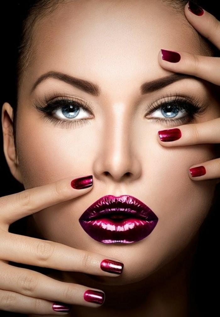 Le maquillage nouvel an 63 id es pour faire la bonne impression - Tuto maquillage soiree ...