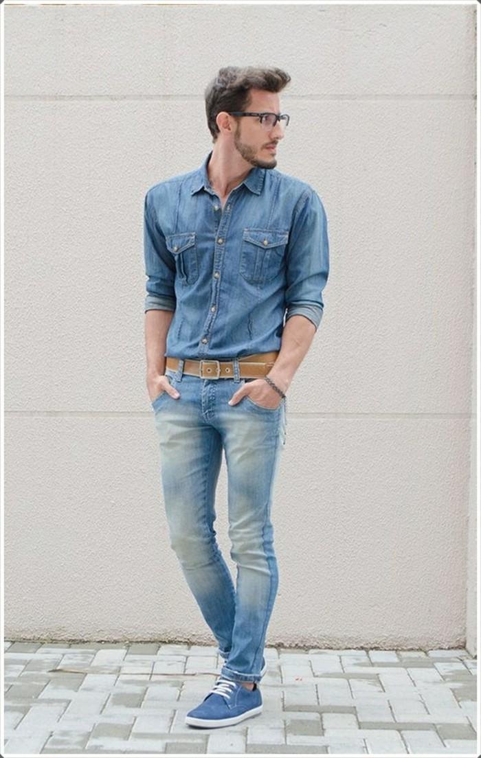 tenue-de-jour-chemise-en-jean-et-veste-moderne