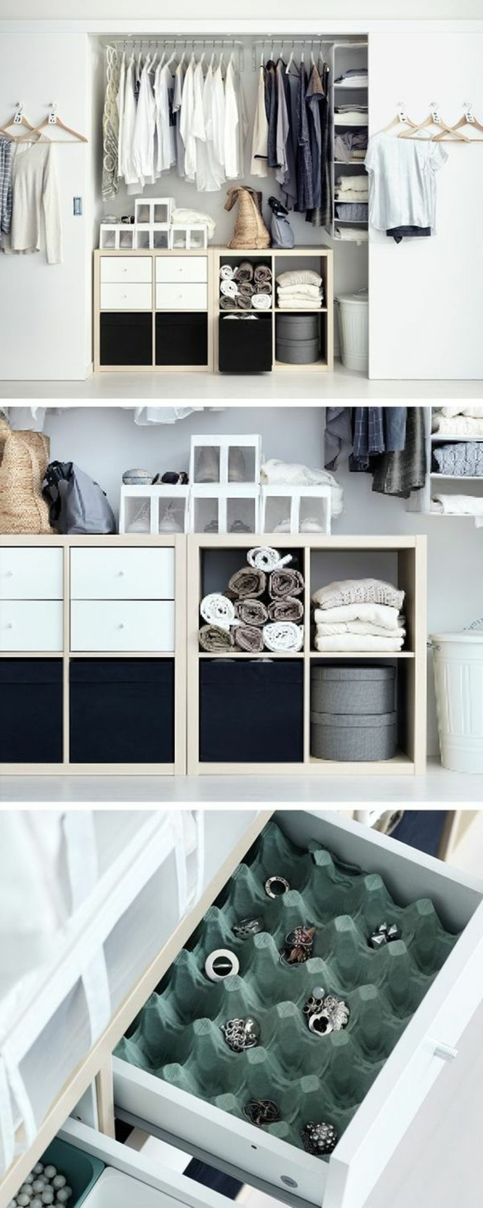 idee rangement chambre petite. Black Bedroom Furniture Sets. Home Design Ideas