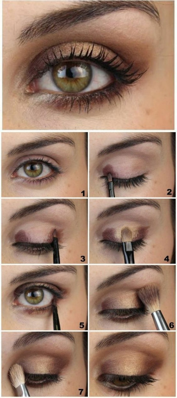 Comment maquiller les yeux verts 50 astuces en photos et for How to get makeup out of white shirt