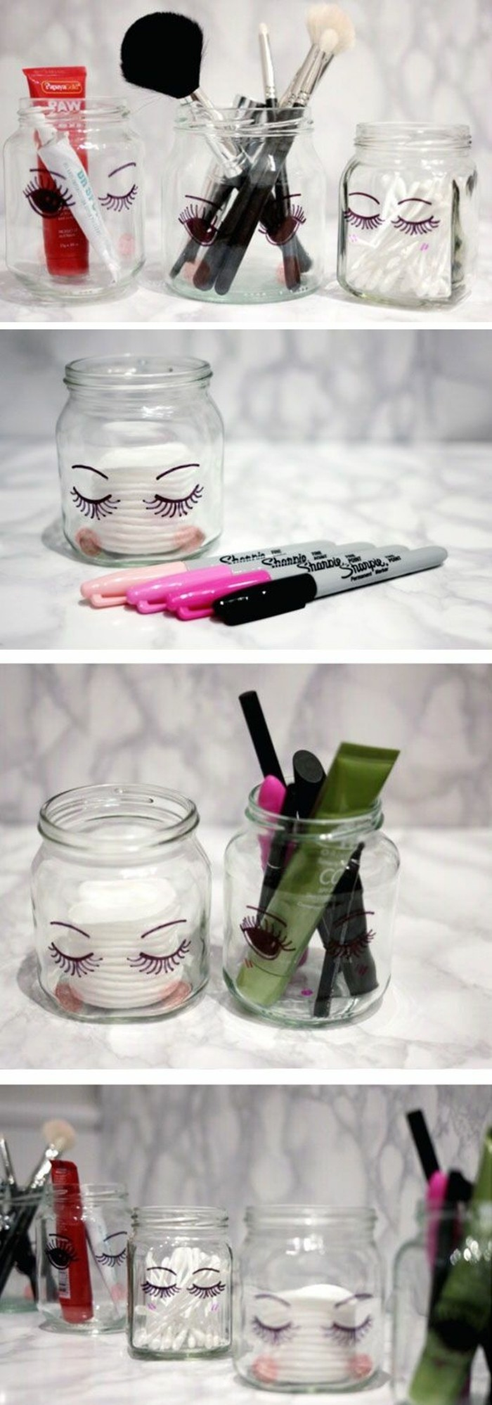 52 id es de rangement make up en photos et vid os - Comment ranger son maquillage ...