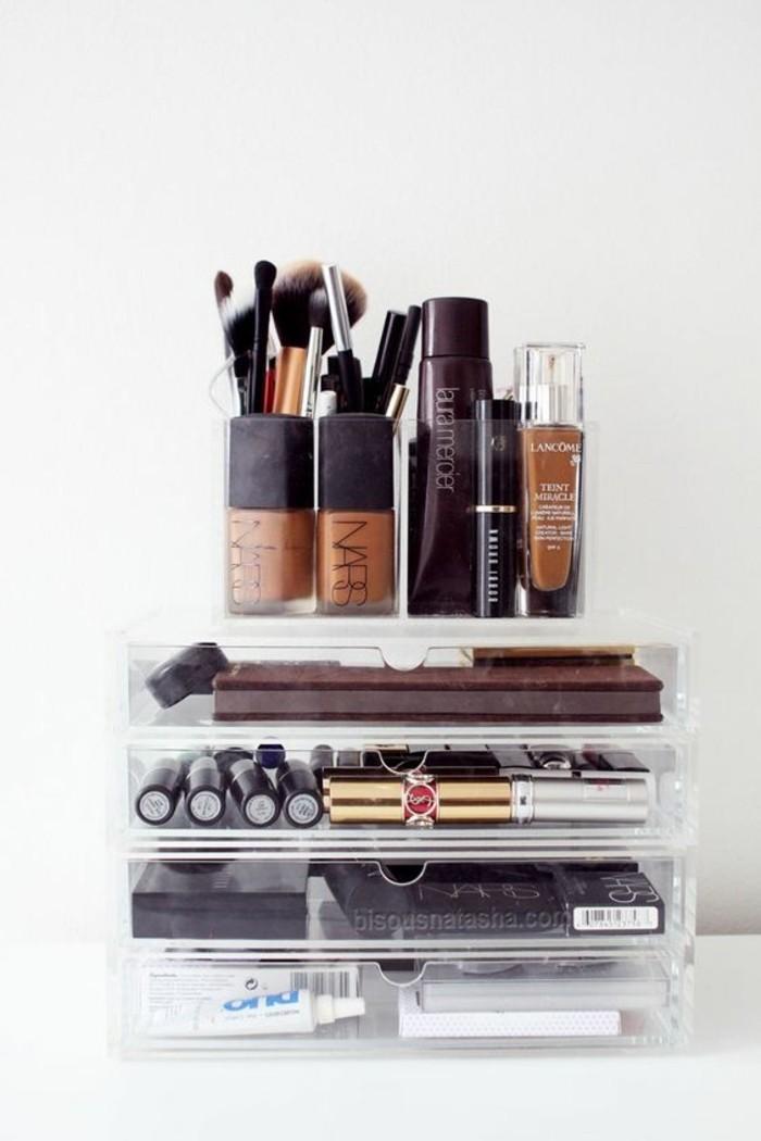 52 id es de rangement make up en photos et vid os - Rangement maquillage tiroir ...