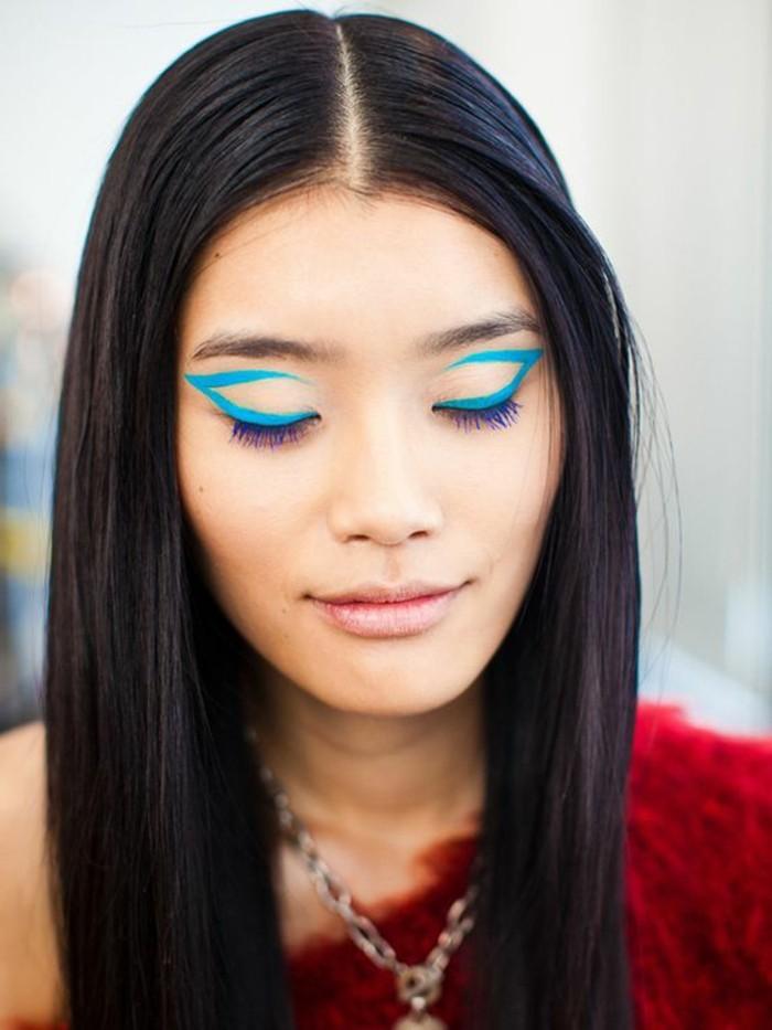 0-technique-de-maquillage-yeux-bridés-levres-roses-cheveux-noirs-fille-asiatique