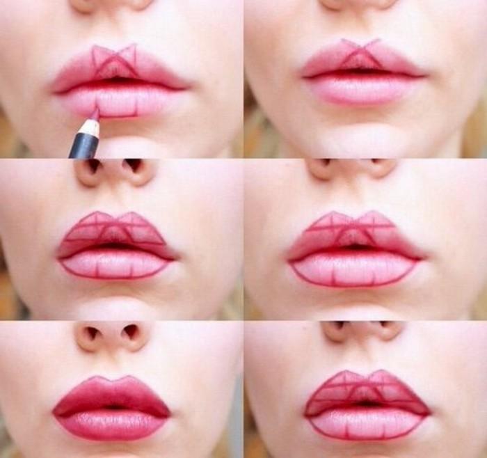 0-technique-maquillage-levres-rouge-a-levres-en-rose-et-rouge-modele-maquillage