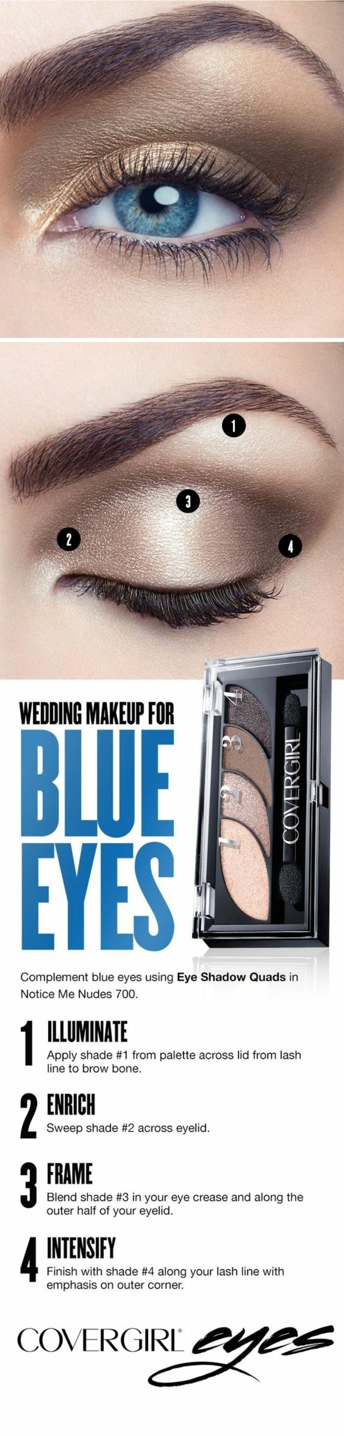 Haut Maquillage Yeux Bleus Simple OJ06