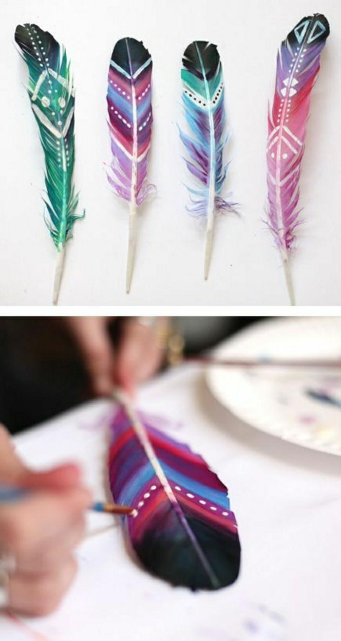00-originale-déco-de-table-mariage-avec-plumes-peints