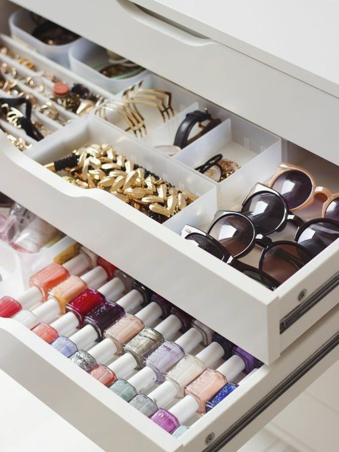 52 id es de rangement make up en photos et vid os - Rangement bijoux fait maison ...