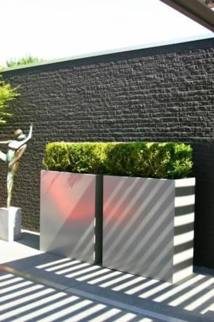 06-Buis boule - une statue